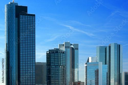 Foto-Kassettenrollo premium - Frankfurter Skyline