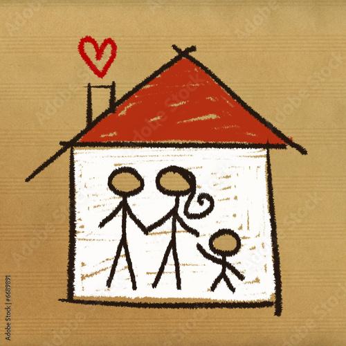 Dessin Maison Famille Acheter Cette Illustration Libre De