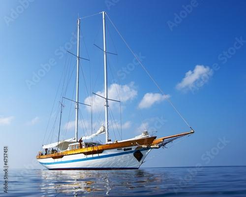 Foto-Schiebegardine Komplettsystem - yacht