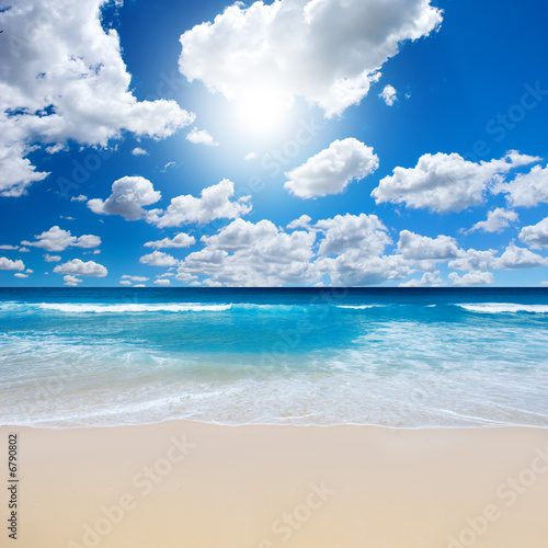 Foto op Canvas Strand Gorgeous Beach Landscape