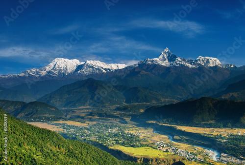 Staande foto Nepal Annapurna massif