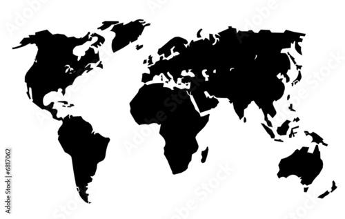 Planisphère noir simplifié