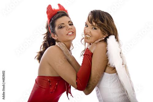 Engel und Teufel Fototapeta