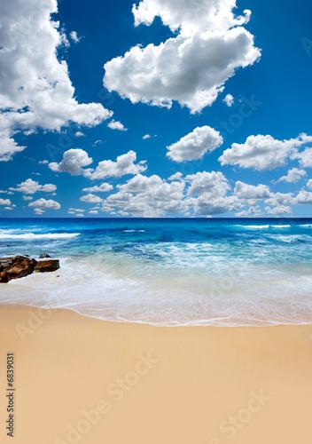 Foto-Schiebegardine Komplettsystem - Summer Beach (von Kwest)