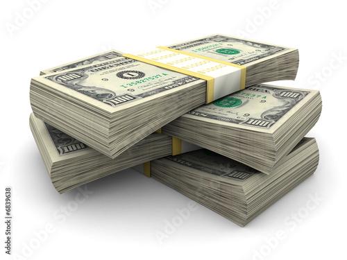Fotografía  Stack of $100 bills