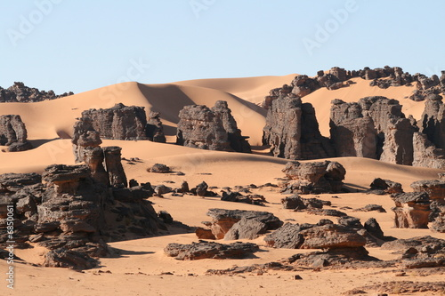 Photo Stands Algeria Desert Scene
