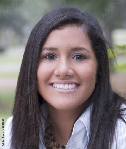Fototapety, obrazy: Young Latina Teen Girl Portrait with Smile