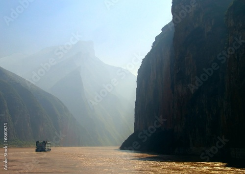 Poster China Landschaft am Gelben Fluss