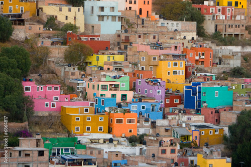 Keuken foto achterwand Mexico colorful buildings in Mexico