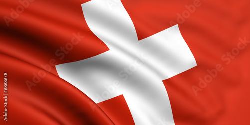 Fotomural  Schweiz Fahne