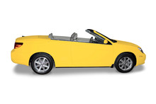 Yellow Convertible  Car