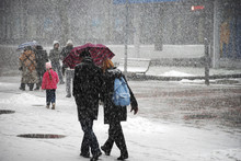 Couple Under The Snow