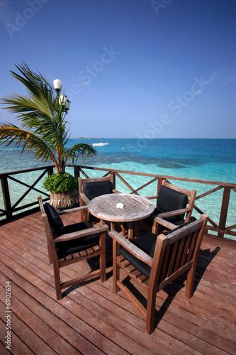 Fototapety, obrazy: Terrasse Maldivienne