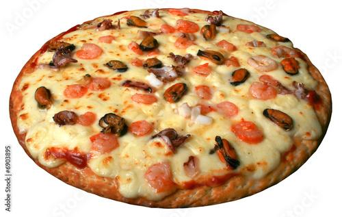 Fotografie, Obraz  Pizza meeresfrüchte