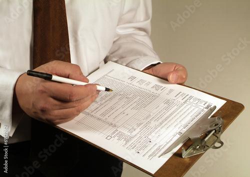 Fototapeta tax form
