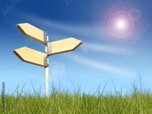 Fotografie, Obraz  Direction sign