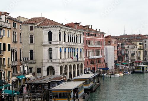 Foto op Plexiglas Venetie Palais sur les quais du grand canal, Venise, italie.