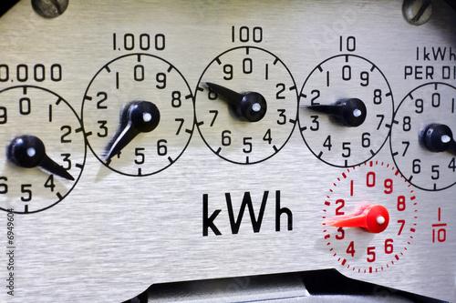 Fotografie, Obraz  Meter dials