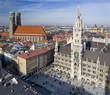 München Marienplatz und Frauenkirche