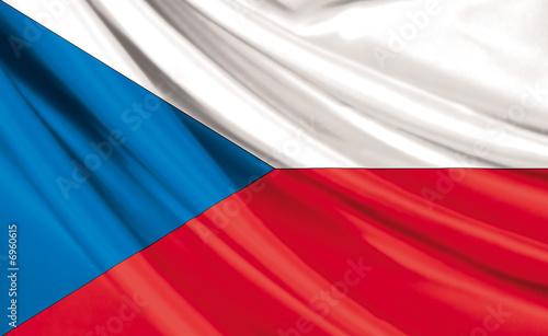Drapeau de la République Tchèque Fototapet