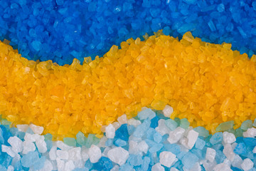 Panel Szklany Do Spa Colorful bath salt, background