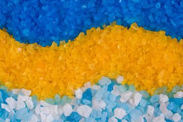 Fototapeta Do Spa Colorful bath salt, background