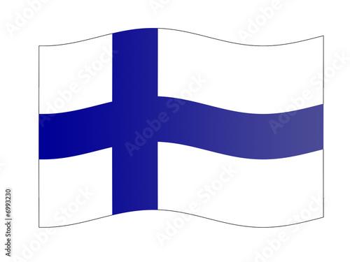 Fotografie, Obraz  bandera finlandia