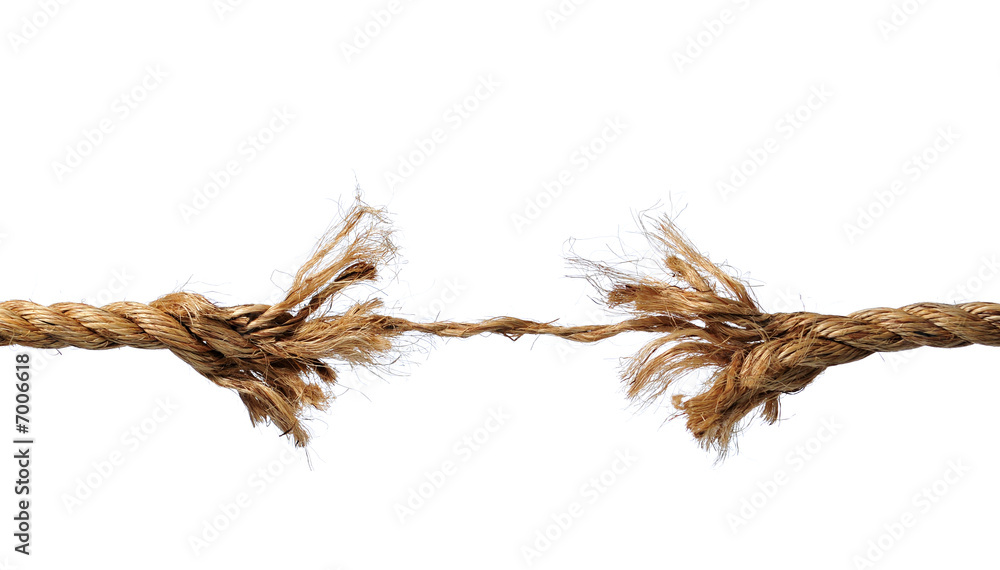 Fototapety, obrazy: Frayed Rope about to Break