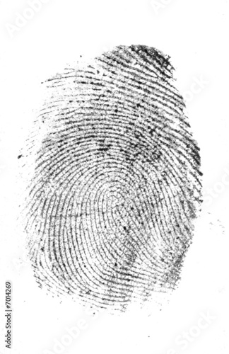Photo  Thumb print black on white