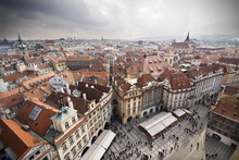 Prague View Of City From Above