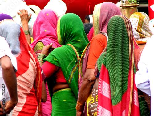 Foto op Canvas India Pilgrim Women