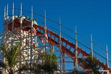 Roller Coaster At Belmont Park