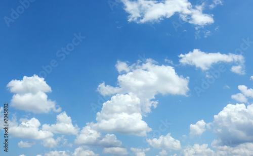 Canvas Prints Heaven Beautiful summer clouds