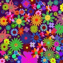 Flower Power Fleurs En Vrac 60...