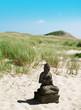Leinwandbild Motiv Buddha am Strand