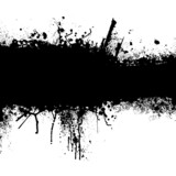 Fototapeta Młodzieżowe - grunge black strip