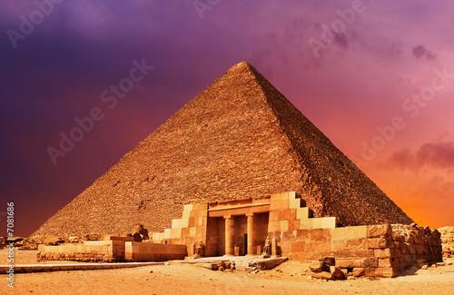 In de dag Egypte Pyramid fantasy