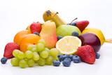 Bunte Mischung aus vielen verschiedenen Sorten von Obst