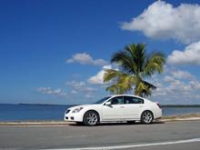 Car At The Beach