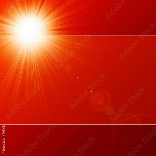 canvas print motiv - Argus : Hot summer sun