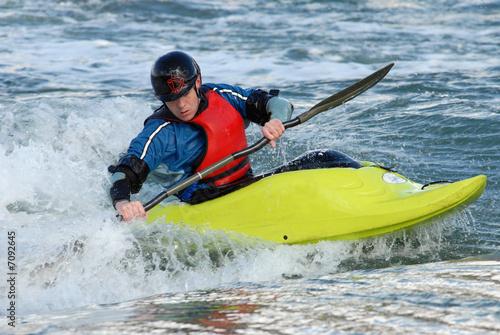 Valokuvatapetti Un kayaker