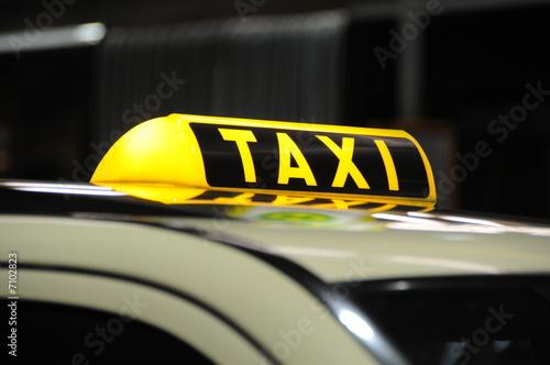 Billede på lærred taxi