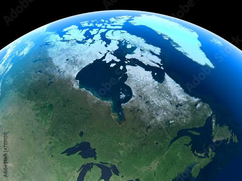 Plakaty ziemia kanada-widziany-z-kosmosu