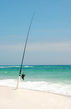 Fishing Pole On Beach