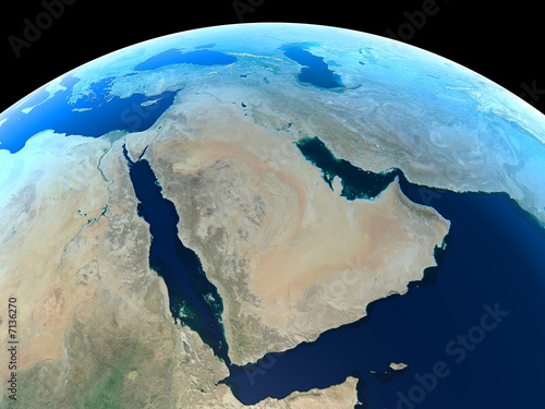 Fotografie, Tablou  The MIddle East as seen from space