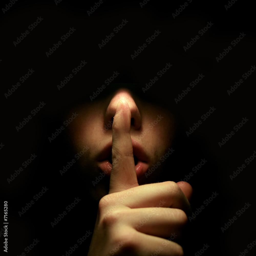 Fototapeta Anonymous imperative silence