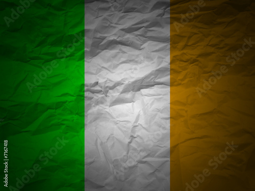 grunge background Ireland flag Poster