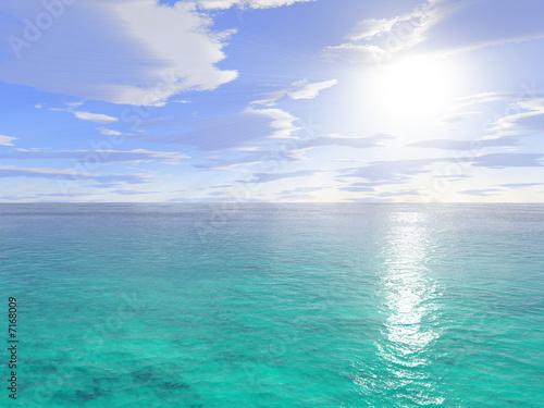 Aluminium Prints Green coral Mare tropicale