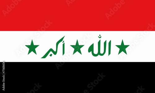 irak fahne iraq flag Billede på lærred