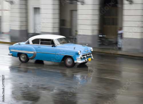 Türaufkleber Autos aus Kuba car